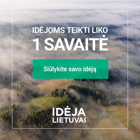 Liko paskutinė savaitė siųsti savo idėjas Lietuvai