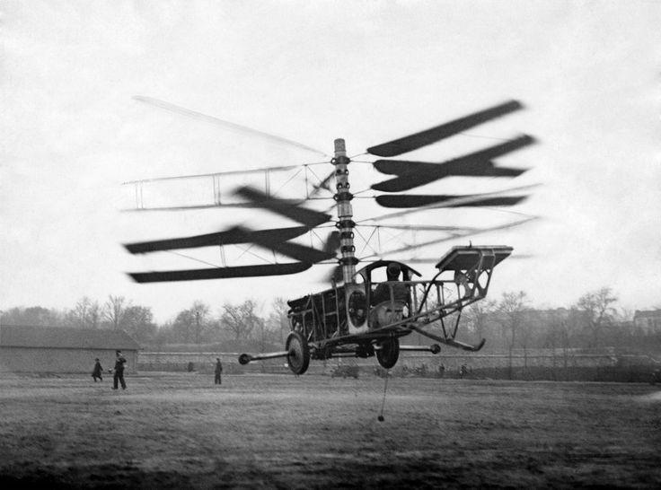 Sraigtasparnių istorija: skrydis truko 20 sekundžių