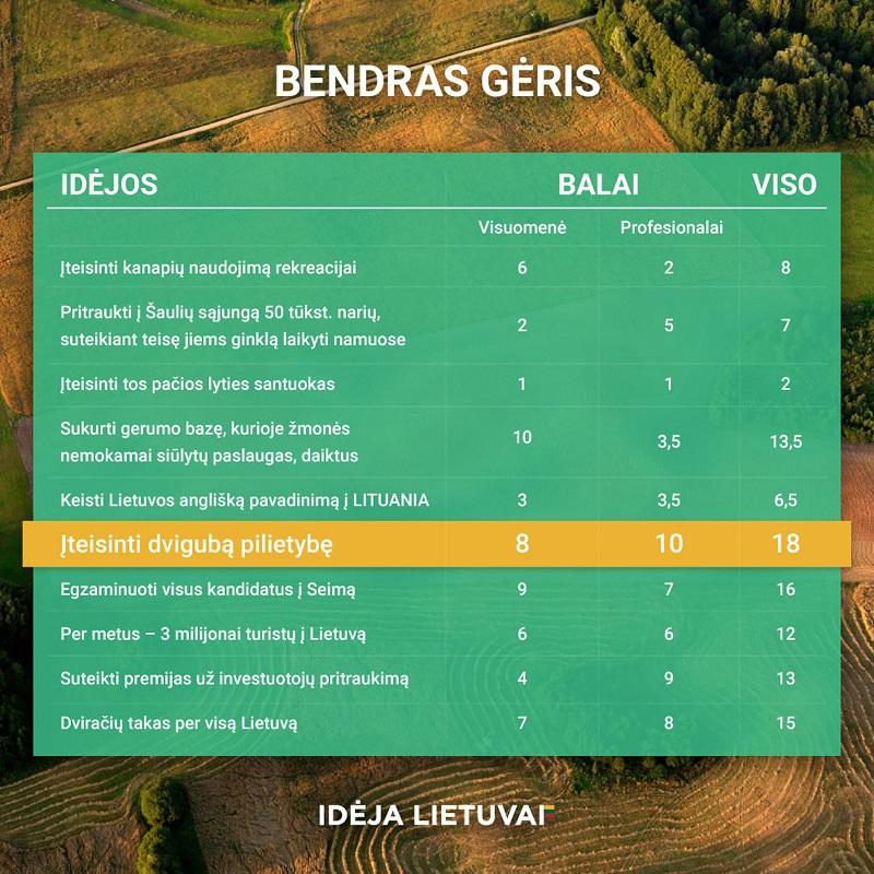 Kiek idėjų Lietuvai galime įgyvendinti?
