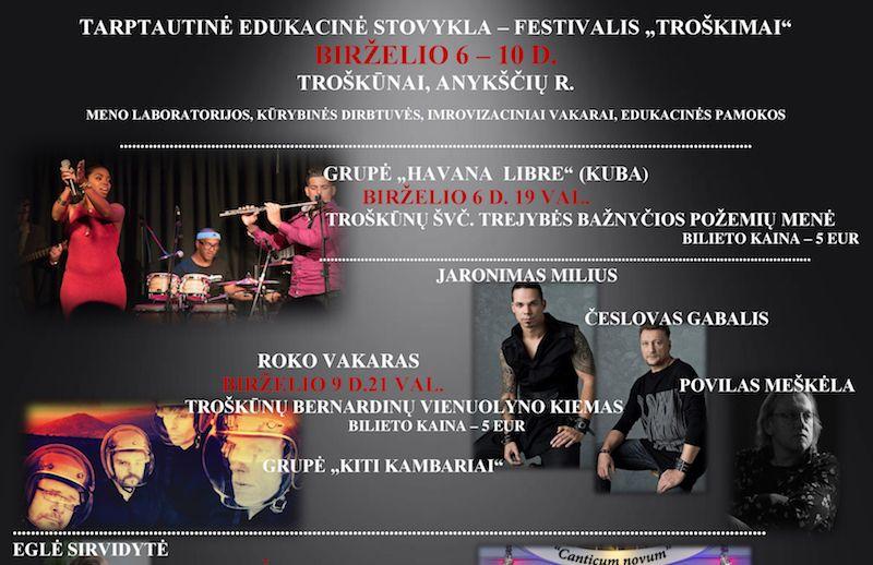 """Tarptautinė edukacinė stovykla festivalis """"Troškimai"""""""