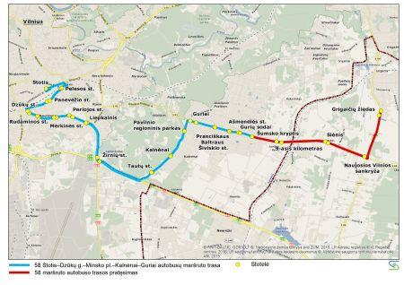 Nuo liepos 1 d. – pokyčiai sostinės autobusų maršrutuose