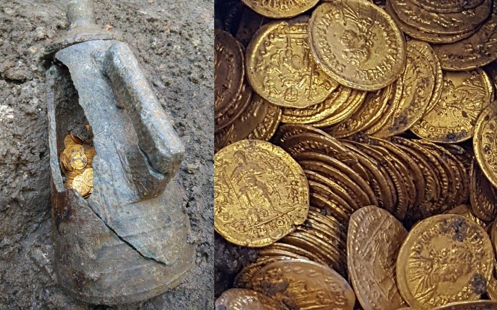 Italijoje rasta šimtai itin senų romėnų laikų auksinių monetų
