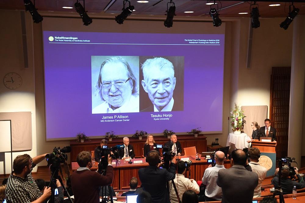 Nobelio medicinos premija skirta už pasiekimus vėžio terapijos srityje