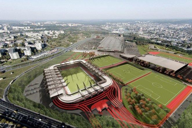 Nacionalinio stadiono statyboms – dar vienas smūgis: teismas neleidžia pasirašyti sutarties