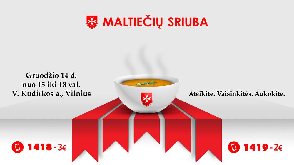 """Prieš Kalėdas – labdaros akcija """"Maltiečių sriuba"""""""