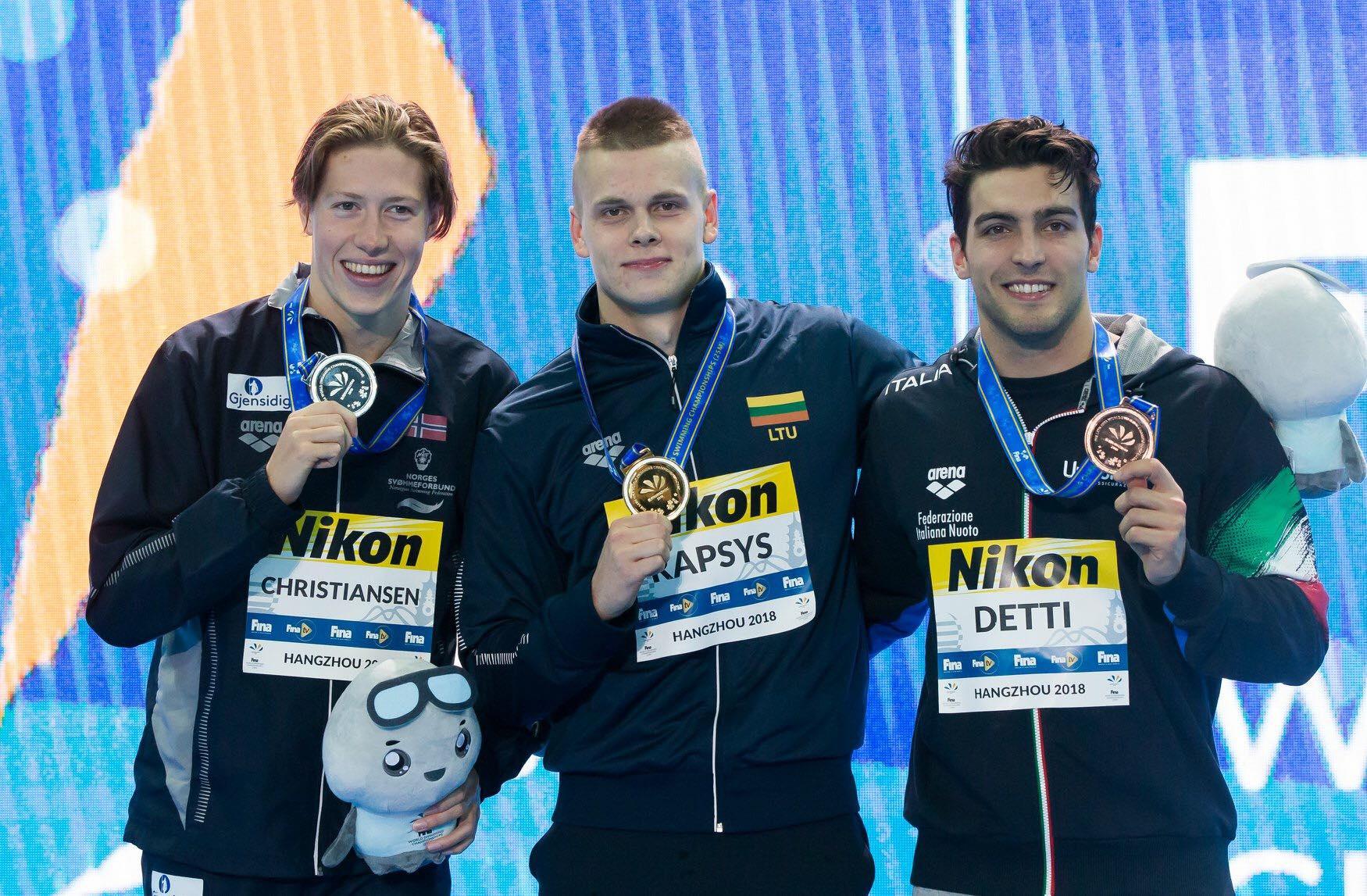 Plaukikas D.Rapšys Belgijoje iškovojo du aukso medalius