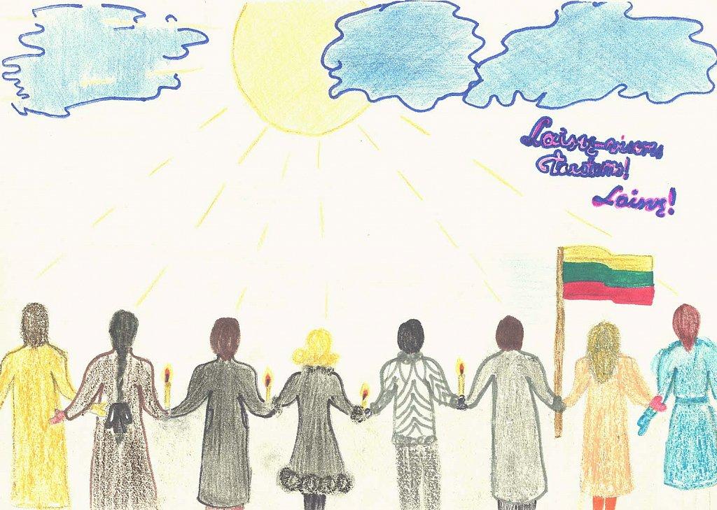 Virtualioje galerijoje – pirmuosius atkurtos nepriklausomybės žingsnius žengianti Lietuva vaikų akimis