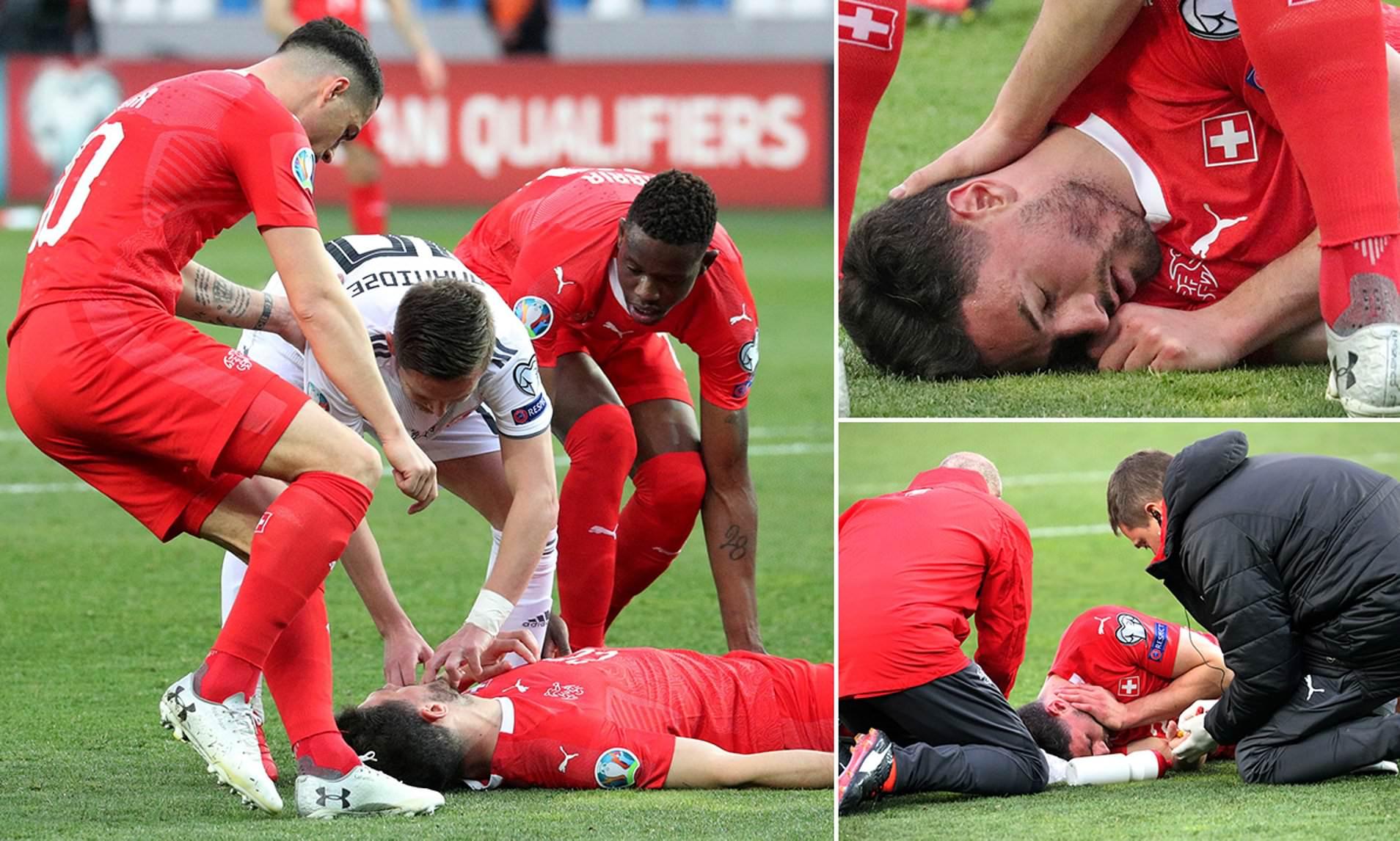 Pamatykite: liežuvį prarijusiam futbolininkui gyvybę išgelbėjęs varžovas užkariavo žmonių širdis