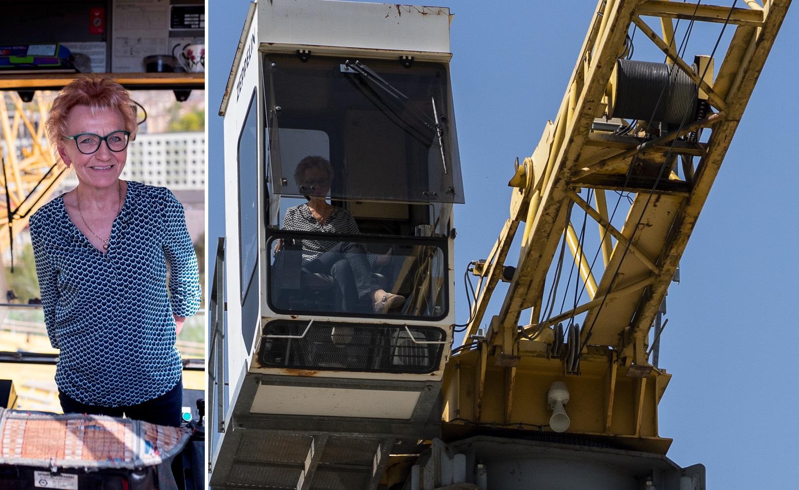 Įkvepiančios istorijos: bokštiniame krane dirbanti Violeta – apie jai patinkantį darbą