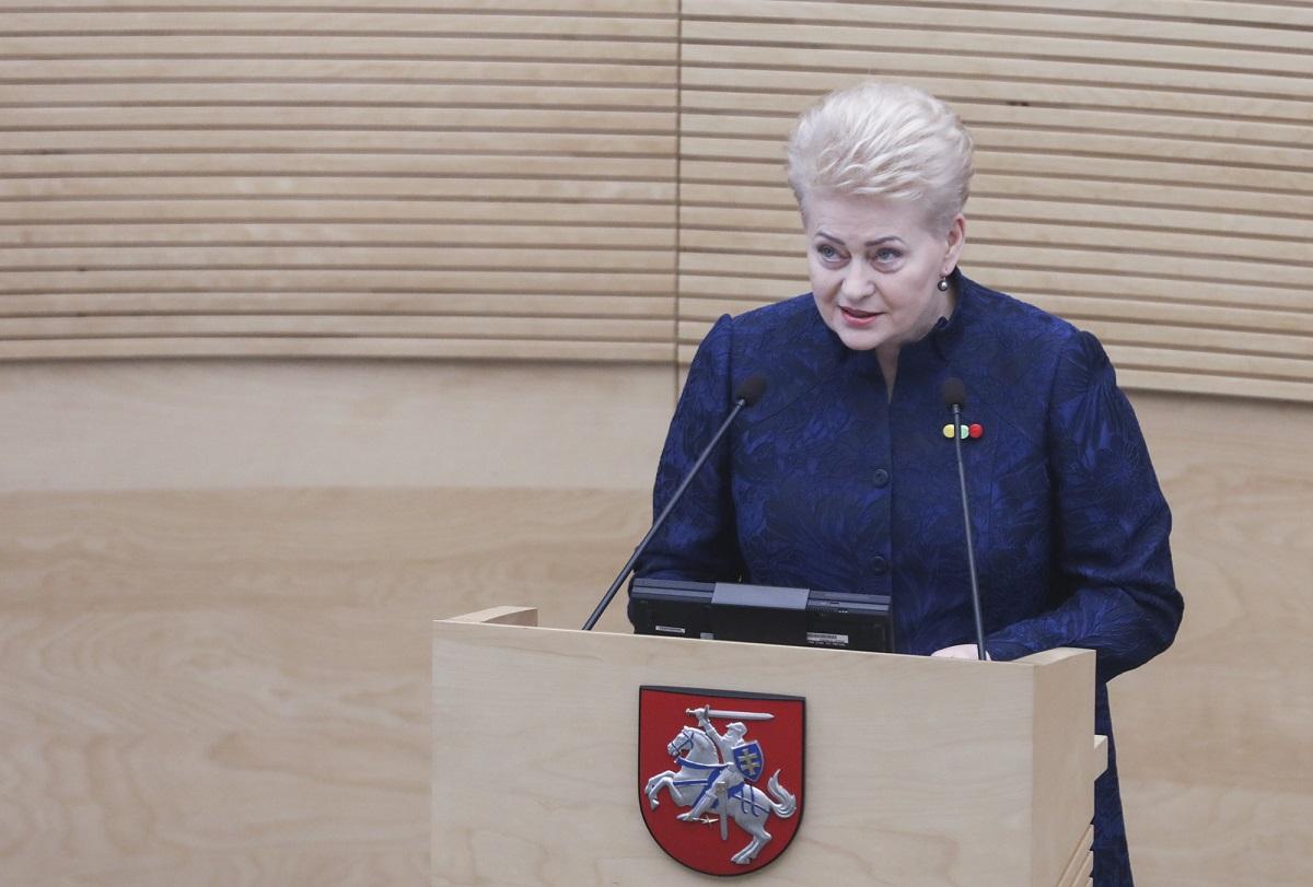 """Paskutinis D.Grybauskaitės metinis pranešimas: """"Su Valstybe viskas yra gerai"""""""