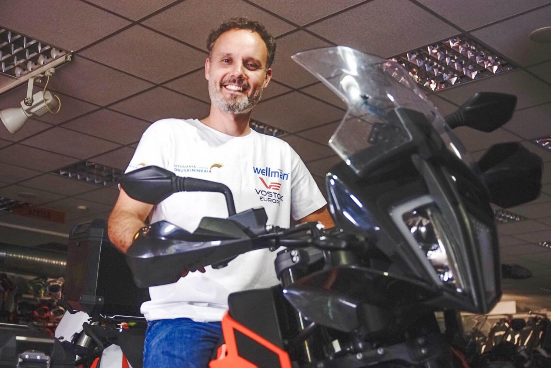 Druskininkietis motociklu pasišovė apkeliauti Žemę