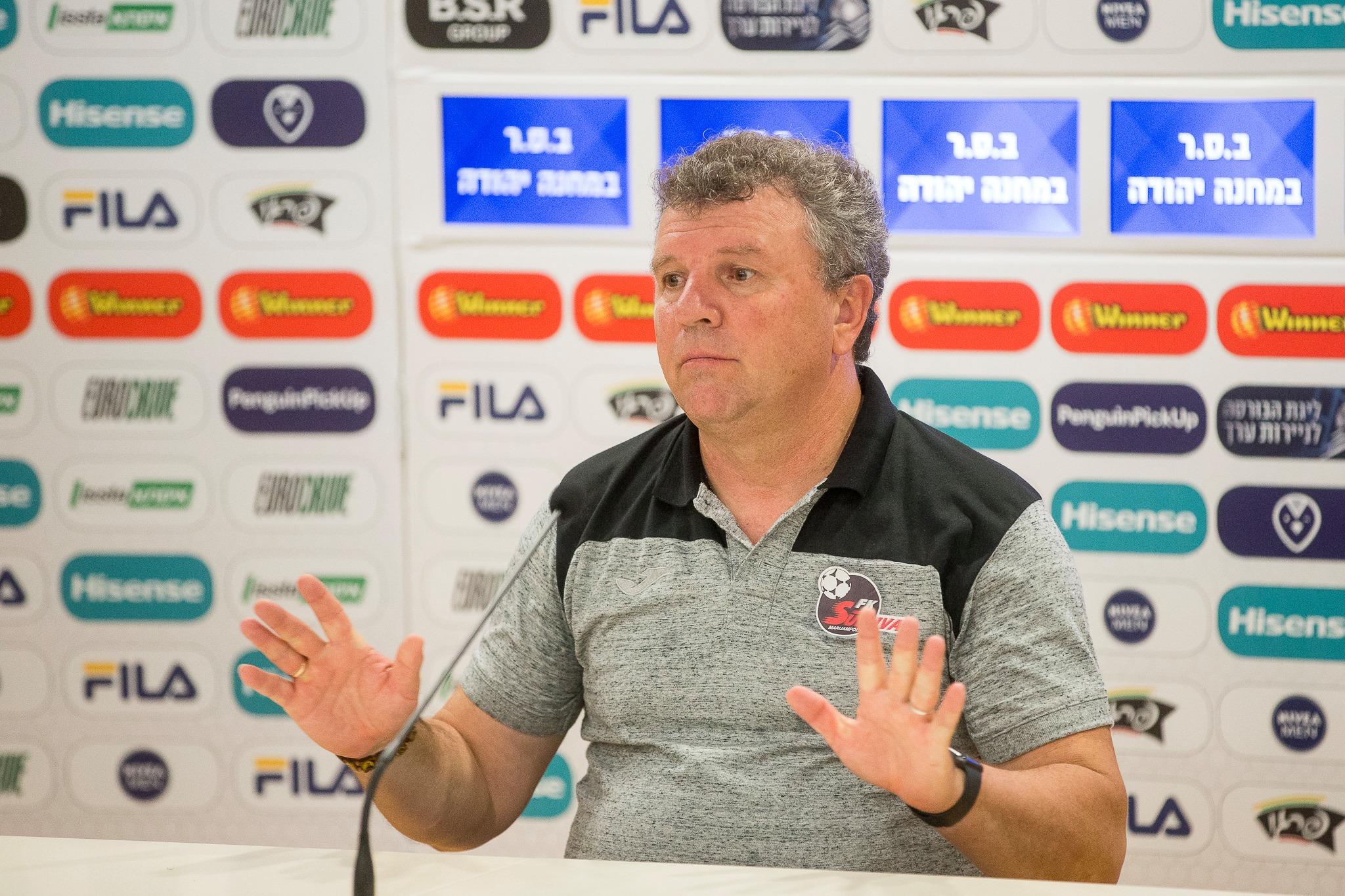 """Prieš lemiamas """"Sūduvos"""" rungtynes Europos lygos atrankoje – trenerio V.Čeburino pastebėjimas apie milžinišką ažiotažą"""