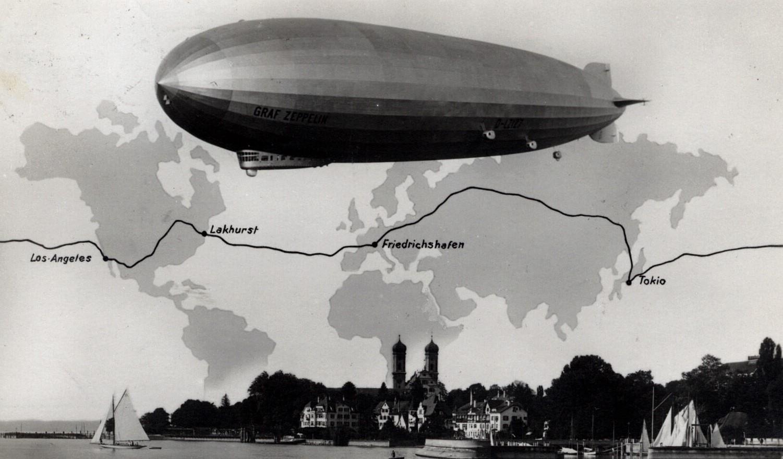 Savaitės kalendorius: pirmasis dirižablio skrydis per pasaulį, pademonstruotas teleskopas ir kiti svarbūs įvykiai