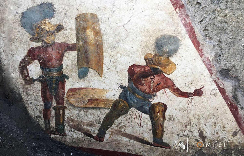 Pompėjoje aptikta gerai išsilaikiusi freska