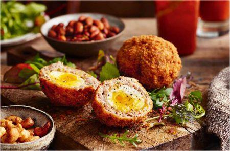 Traškūs kiaušiniais įdaryti mėsos kukuliai (video)