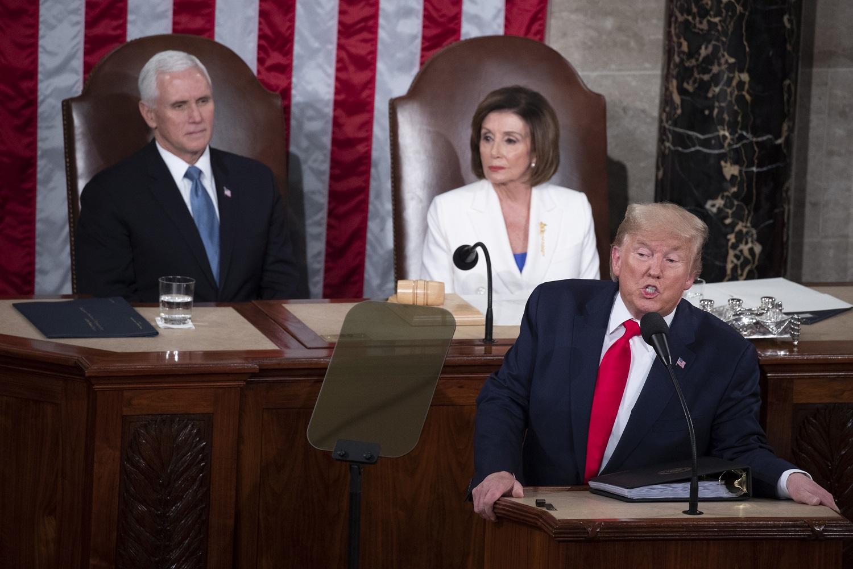 """D. Trumpas metiniame pranešime džiaugėsi """"didžiuoju Amerikos sugrįžimu"""""""