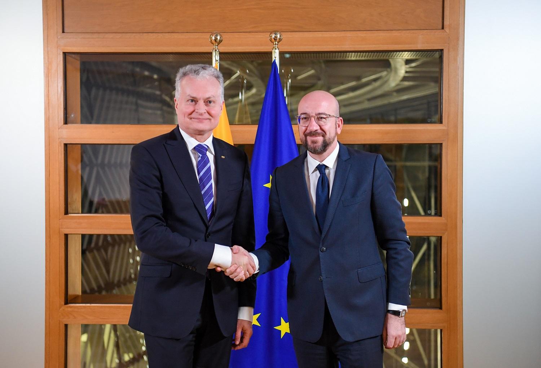 G. Nausėda po susitikimo su EVT pirmininku: esame išgirsti ir Lietuvos aktualijos suprantamos