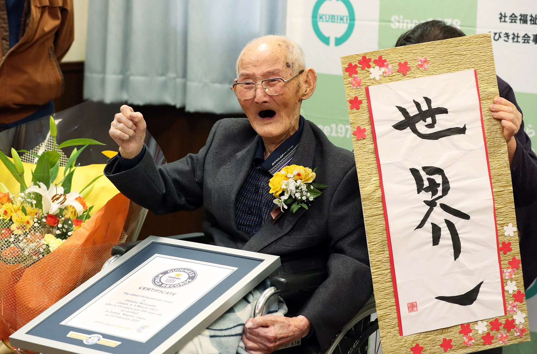 Mirė prieš dvi savaites oficialiai seniausiu pasaulio vyru pripažintas japonas