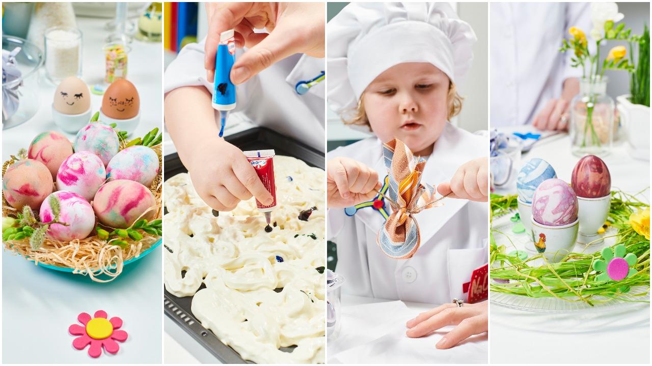 Grietinėlė ir kaklaraiščiai – ingredientai įspūdingiems margučiams išgauti