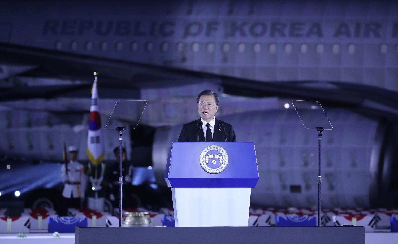 Moon Jae Inas: Pietų Korėja nesiekia dar vieno karo su Šiaurės Korėja
