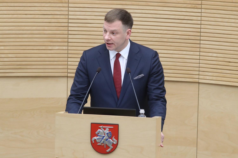 V. Šapoka: kitų metų biudžetas privalo būti saugus
