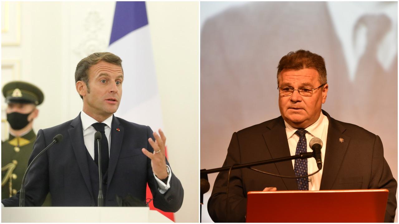 L. Linkevičiaus reakcija į E. Macrono pasisakymus: dialogas su Rusija geriau nei jo nebuvimas