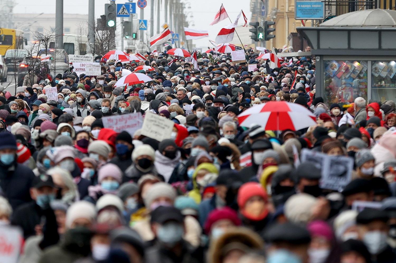 Baltarusijoje protestai prieš A. Lukašenką tęsiasi jau 100 dienų