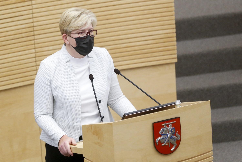 Politologė: daliai valdančiųjų esant saviizoliacijoje, garantuoti, kad antradienį Lietuva turės naują premjerę, kol kas negalima