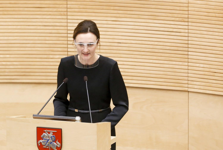 V. Čmilytė-Nielsen LVŽS atstovavimo Seime klausimą spręs ne dėl R. Karbauskio: tai buvo vieno asmens teatras