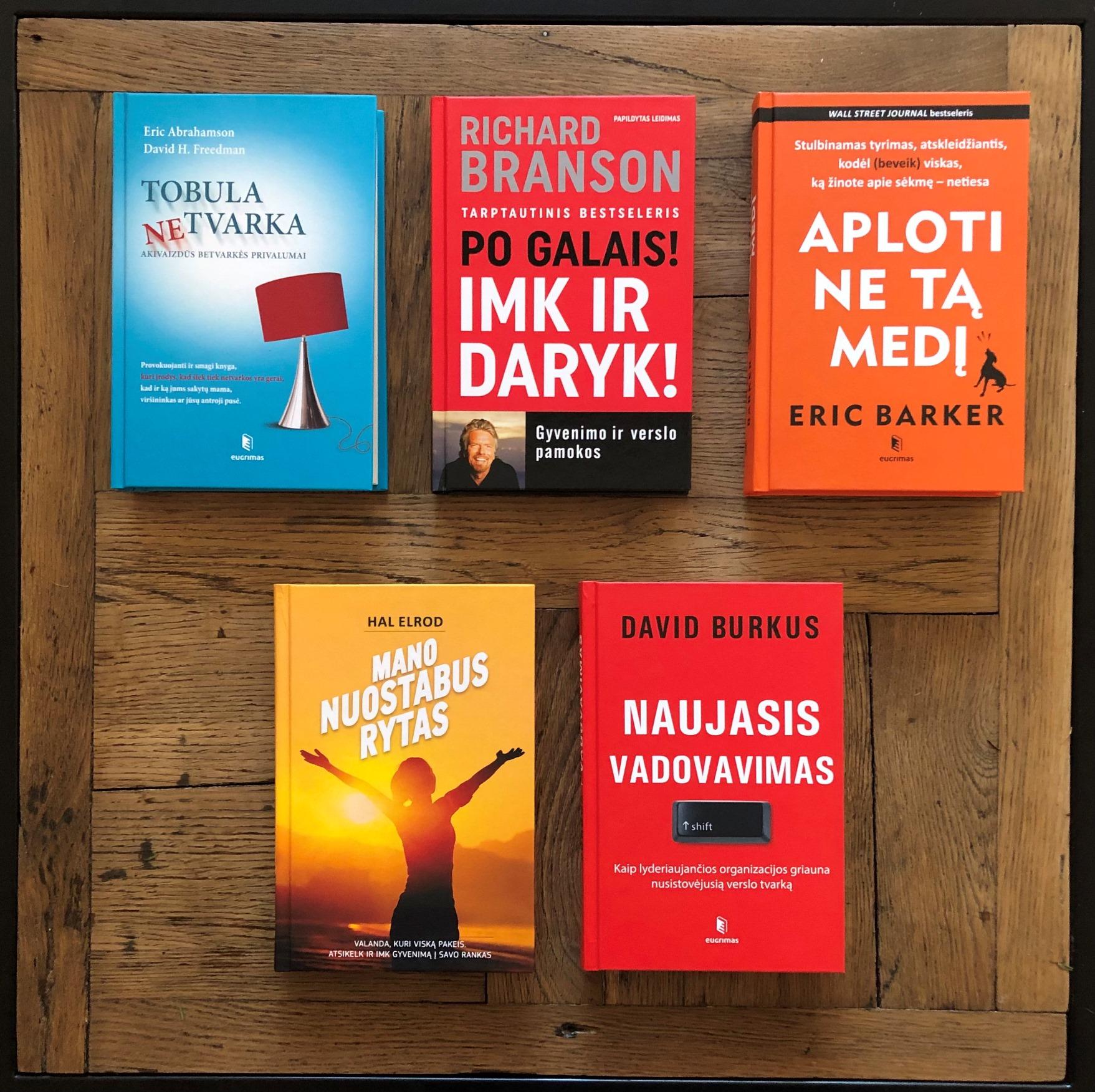 Idėjos kolegų dovanoms: penkios knygos įkvėpimui ir motyvacijai