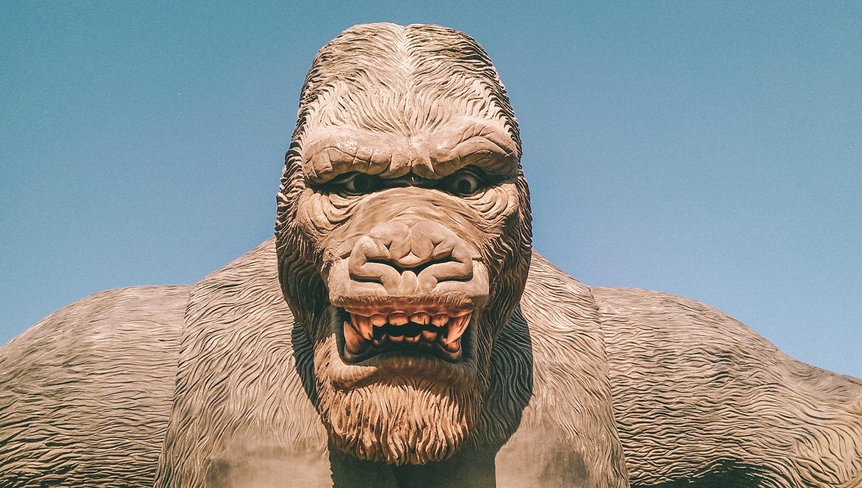 Dinozaurų parkuose vietą rado netgi King Kongas
