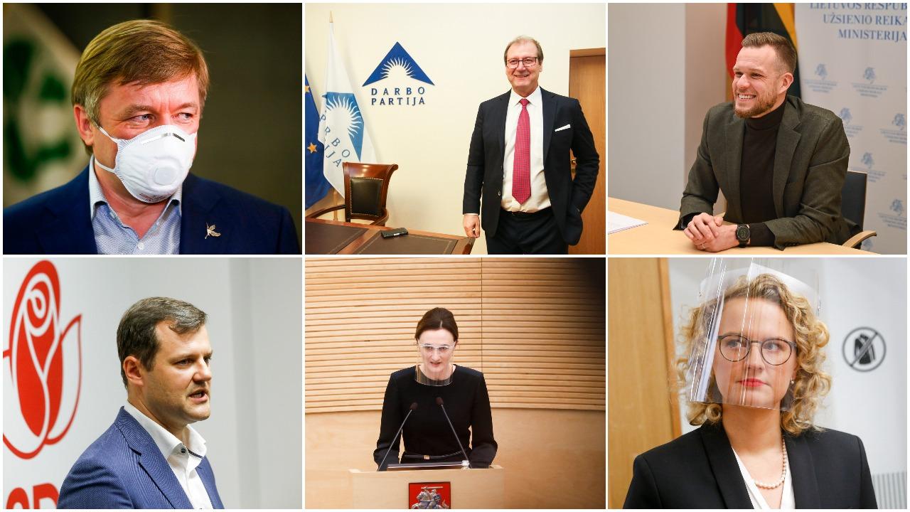 2021 m. laukia visų parlamentinių partijų pirmininkų rinkimai: perrinkimo siekiantys LSDP, LVŽS ir TS-LKD lyderiai patirtų naujų iššūkių