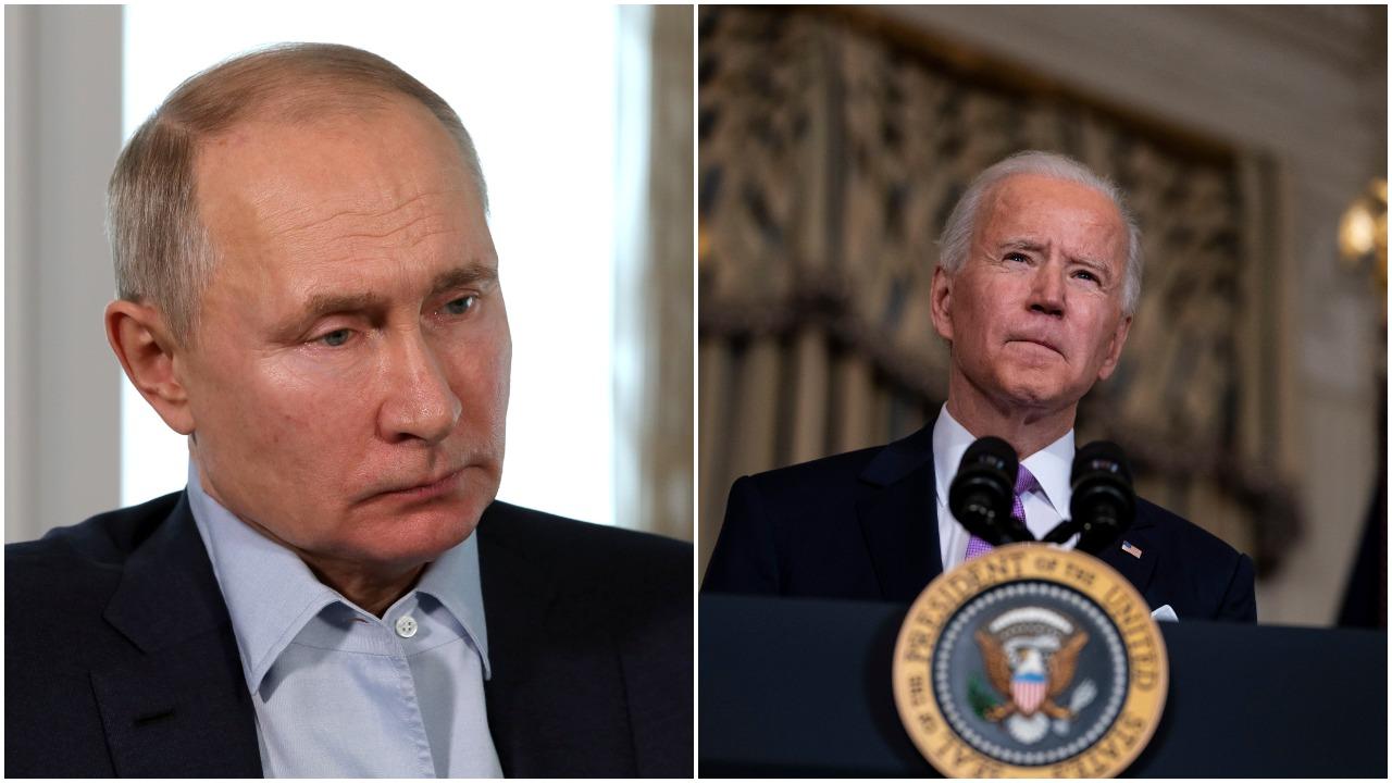 J. Bidenas per pokalbį su V. Putinu pareiškė susirūpinimą dėl A. Navalno apnuodijimo, žmogaus teisių ir agresijos prieš Ukrainą