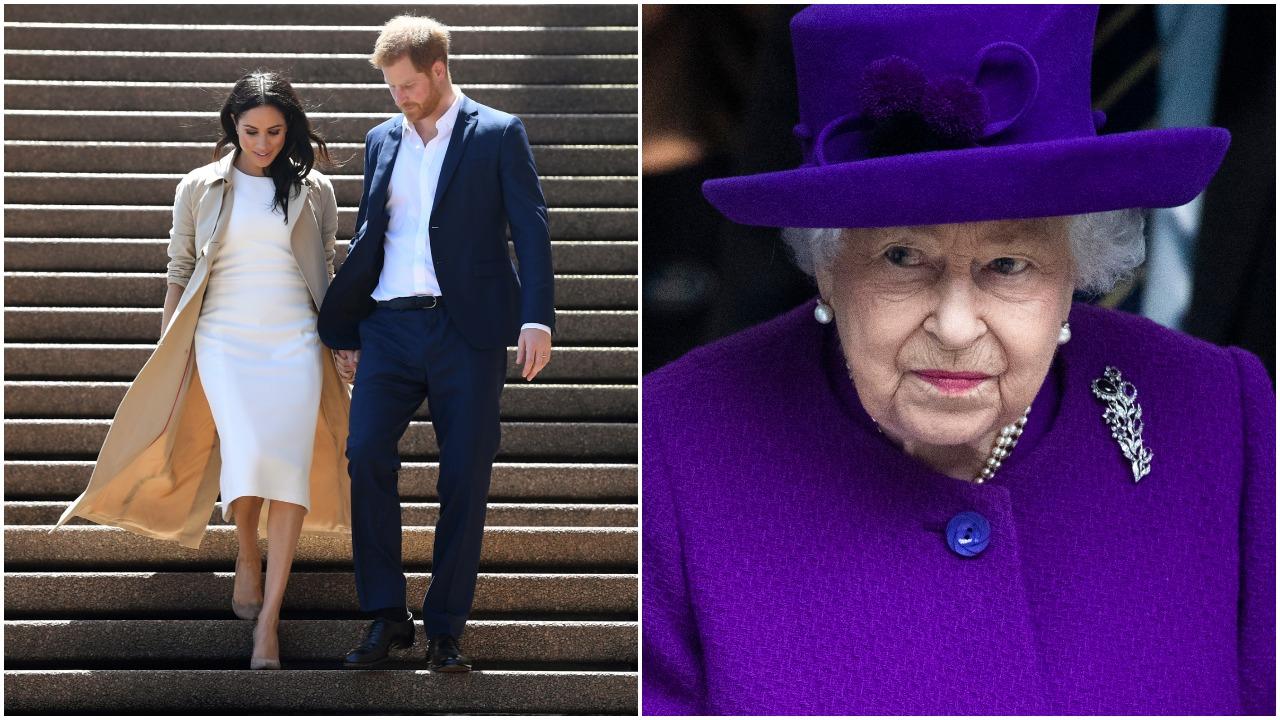 """Karalienę Elžbietą II """"nuliūdino"""" iššūkiai, su kuriais teko susidurti princui Harry'iui ir jo žmonai Meghan"""