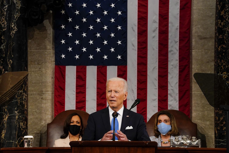 Pirmojoje kalboje Kongrese J. Bidenas patikino: JAV nesiekia konflikto su Kinija ir Rusija