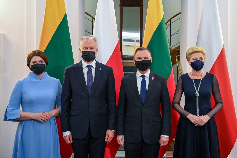 G. Nausėda pabrėžė dvišalius Lietuvos ir Lenkijos santykius ir sustiprėjusį bendradarbiavimą saugumo ir gynybos srityje