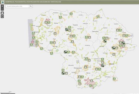 Kur galima stovyklauti saugomose teritorijose: žemėlapis su pažymėtomis vietomis