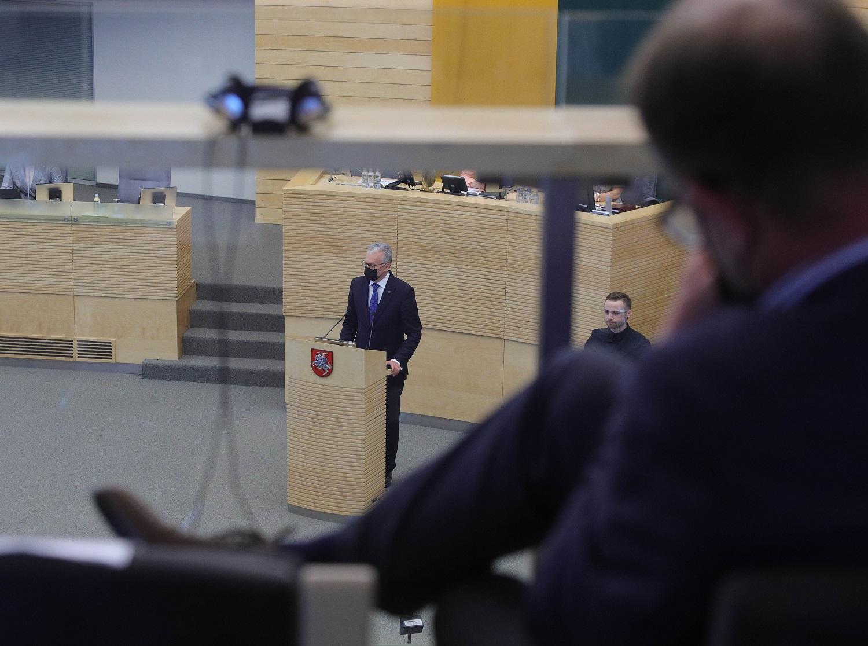 G. Nausėda apibendrino metus: Lietuvos žmonės stebėjo, kaip klumpa politikai