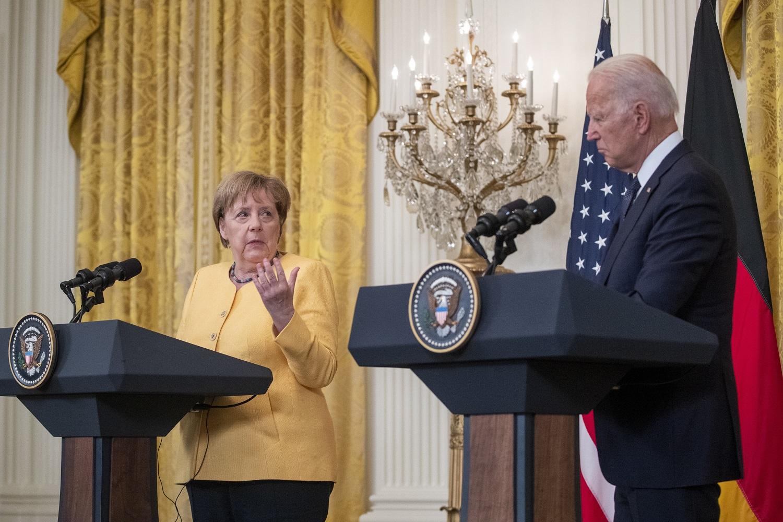 Turbūt paskutinis A. Merkel apsilankymas Vašingtone: kas aptarta su JAV prezidentu?
