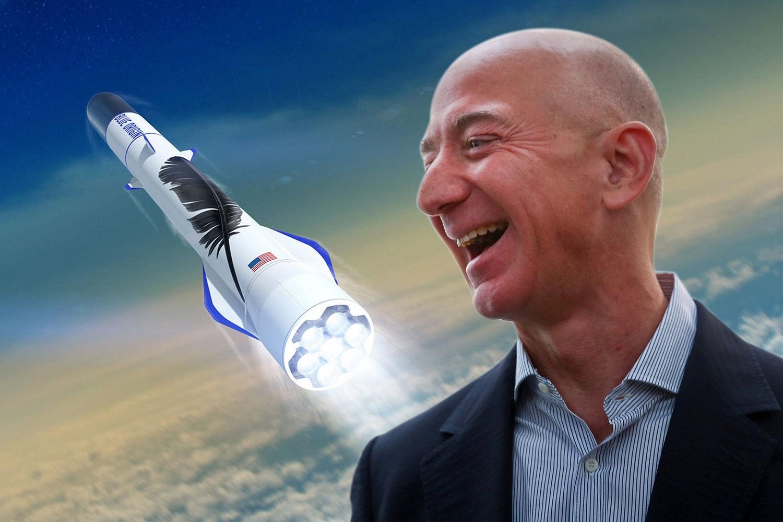 Turtingiausias pasaulio žmogus J. Bezosas pasiekė kosmosą