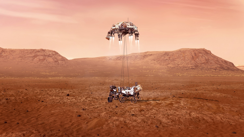 """NASA marsaeigis """"Perseverance"""" nuo Marso paviršiaus paėmė pirmąjį uolienų mėginį"""