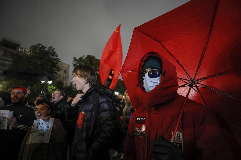 Šimtai žmonių per protestą Maskvoje reikalavo V. Putino atsistatydinimo